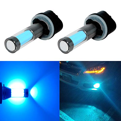 Alla Lighting Xtreme Super Bright LED 899 880 Fog Light Bulbs - High Power COB Universal 892 880 LED Bulb 880 LED Fog Lights Bulbs Lamp Replacement - 8000K Ice Blue