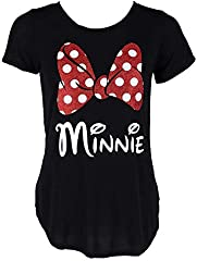 Minnie Mouse Glitter Bow - Camiseta para mujer