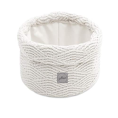 Jollein Wickeltisch Körbchen rund Utensilientasche Korb River knit cream white