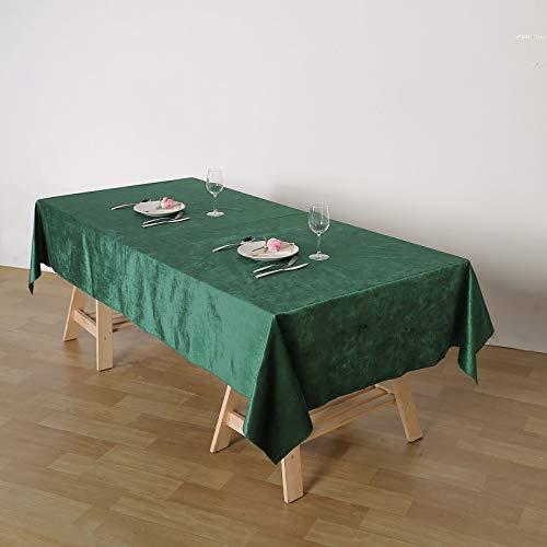 Efavormart Premium Velvet Hunter Green 60' x 102' Rectangle Tablecloth for Wedding Party Events