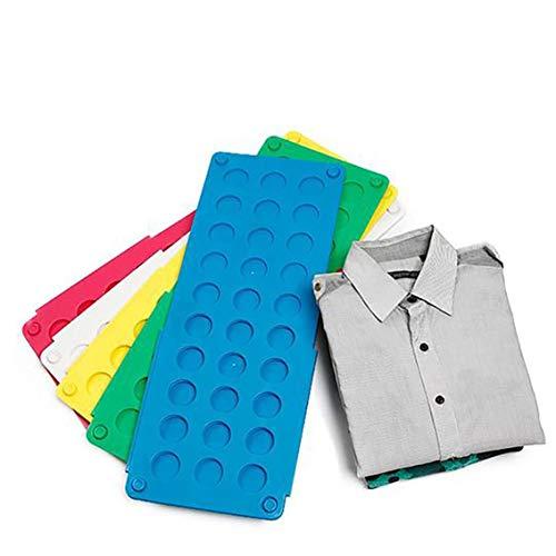 Panamami Praktisches Kleidungs-Faltbrett spart Zeit multifunktional Magic Fast Speed T-Shirt Kleidung Easy Fold Organize/Blau
