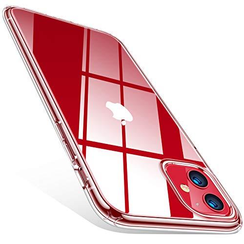 TORRAS Crystal Clear Kompatibel mit iPhone 11 Hülle, Ultra Dünn [Vergilbungsfrei] Durchsichtig Handyhülle iPhone 11 Hülle Silikon Slim Stoßfest Schutzhülle iPhone 11 Hülle-Transparent