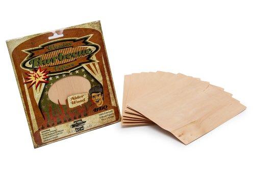 Axtschlag Grillpapier Erle, zum schonenden Garen, hält das Gargut saftig, für Grill & Backofen, auch zum Servieren, 8 Wood Papers + Schnur, 190x170x1 mm