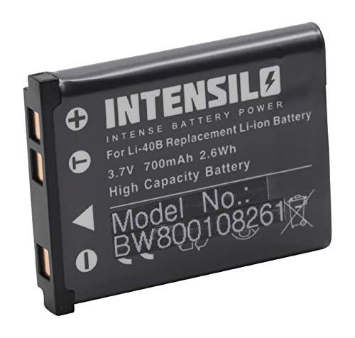 Batería Li-Ion 700mAh (3.7V) Marca INTENSILO para cámaras General Electric GE E1486TW, J1050, J1250, J1455 sustituye Li-40, D-Li63, NP-80.