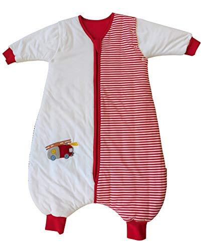 Saco de dormir Slumbersac para niño con pies y mangas largas desmontables Grosor 2.5 -Coche de Bomberos - 5-6 años/120cm