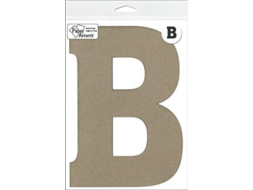"Accent Design Paper Accents Chip Letter 1pc ChipLet 8"" B NAT"