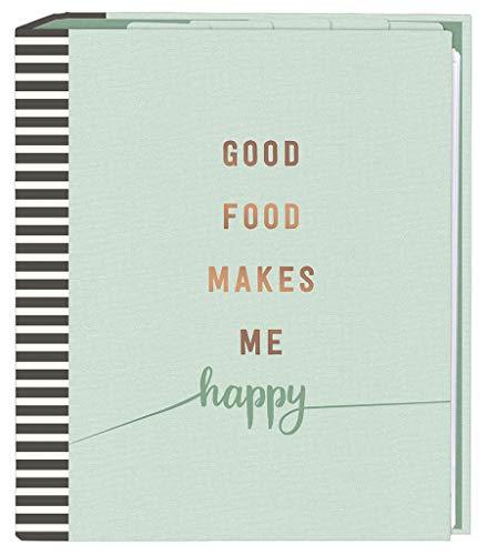Rezeptordner Good Food DIN A5 | cook & STYLE Sammelordner mit Klarsichthüllen und Registertaschen | Zum Selberschreiben