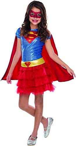 birthdayexpress kids costumes Rubie's Costume DC Superheroes Supergirl Sequin Child Costume, Medium