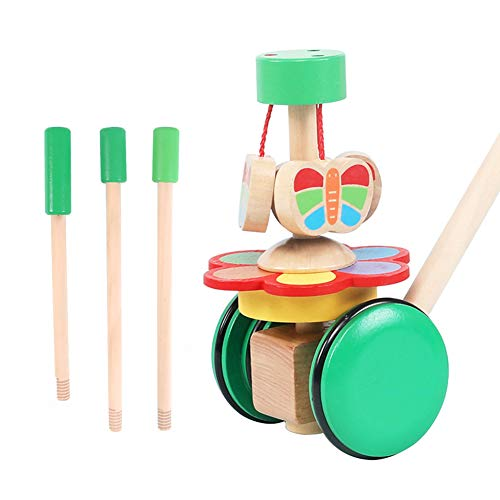 Best Review Of Children's Wooden Push carts   Baby Walking Small Aircraft Toys   Infants and Toddler...