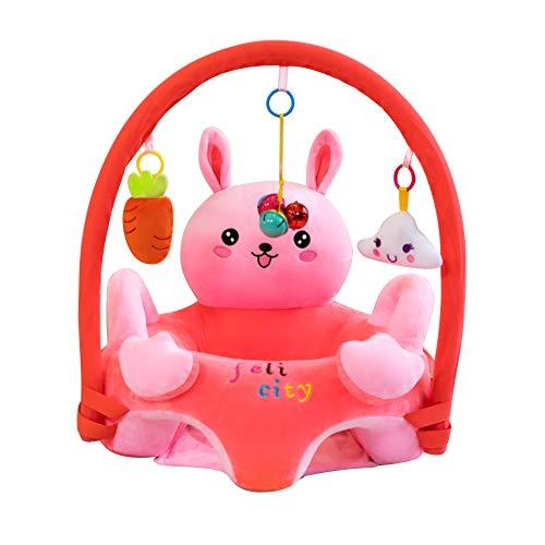 Cartoon Baby Plüsch Stuhl Sofa Infant Learning Sitz Stuhl Baby Spielzeug Support Sitz Training Stützfütterung (Hase mit Stange)