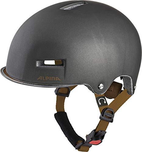 ALPINA Unisex - Erwachsene, GRUNERLOKKA Fahrradhelm, sepia, 52-57 cm