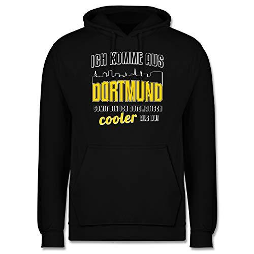 Städte - Ich komme aus Dortmund - XXL - Schwarz - Skyline - JH001 - Herren Hoodie und Kapuzenpullover für Männer