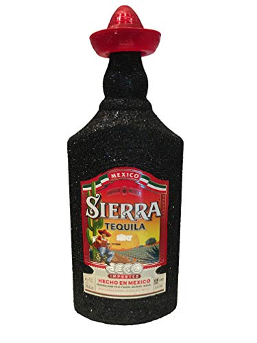 Sierra Tequila Silver 70cl (35% Vol) - Bling Glitzerflasche in schwarz