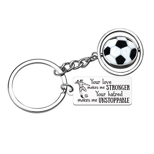 Inspirationele voetbal voetbal hanger sleutelhanger, sport collectie, beste cadeau voor voetbal of voetbal liefhebber en fan