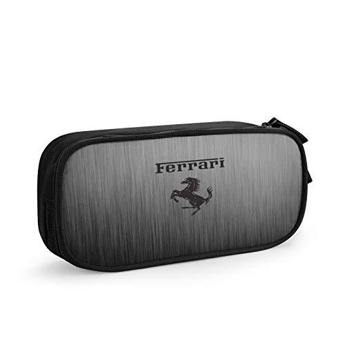 Ferrari Monedero de lona bolsa de dinero con cremallera monedero para guardar monederos, neceser pequeño