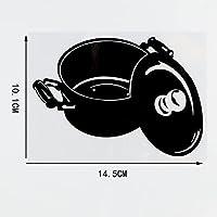 WZHLI 14.5×10.1cmビニールデカールカースタイリングステッカーブラック/シルバー (Color Name : Black)
