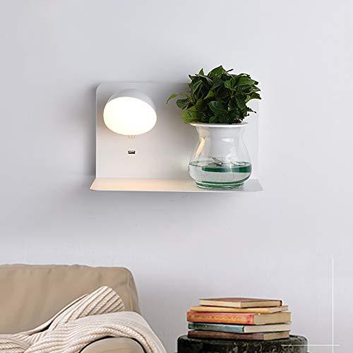 Moderne Eenvoudige Wandlamp Met Plank, Subwitte Hardware Lampbehuizing 320 * 190 * 180 Mm, Ingebouwde Led-lichtbron 4000 K, Voor Thuis (afbeelding Is Alleen Ter Referentie)