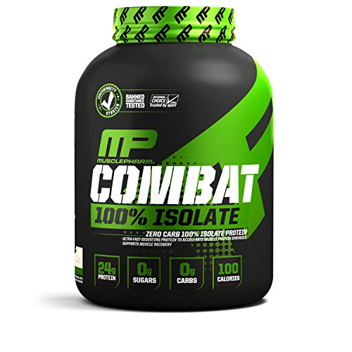 Muscle Pharm 100% Whey Isolate, Pure Isolate Protein Powder With 0 Carbs, Vanila, 24g of Proteinper Serving, Whey Isolate Protein, Quality Protein Powder, 5 Lb, 84 Servings