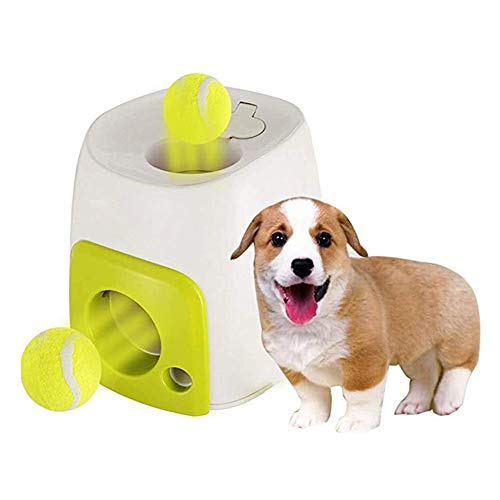 Alician Automatic Baseball Launcher Interactive Puzzle Toy for Dog Training
