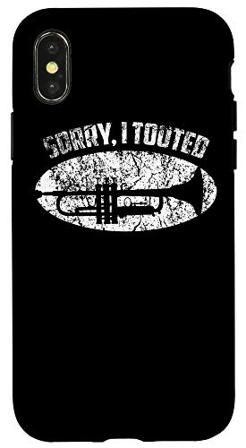 iPhone X/XS Sorry I Tooted Trumpet Player - Jazz Music Gift Tee Case