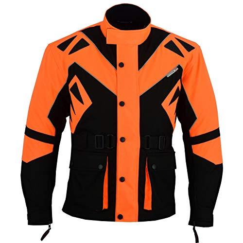 German Wear Textilien Jacke Motorradjacke Kombigeeignet, 50/M, Orange