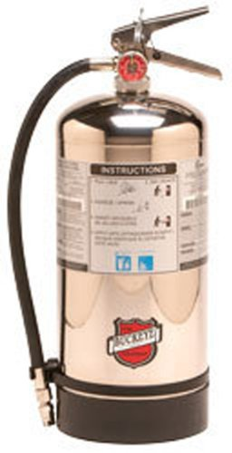 Buckeye 50006 Class K Wet Chemical Hand Held Fire Extinguisher with Wall Hook, 1.59 Gallon Agent Capacity, 7