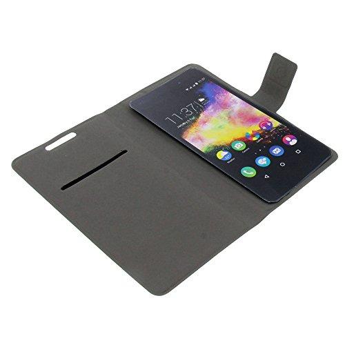 foto-kontor Tasche für Wiko Highway Pure Rainbow Up Book Style Ultra-dünn Schutz Hülle Buch schwarz