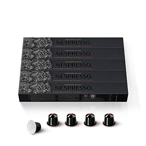 Nespresso Cápsulas–50Ristretto Descafeinado Cápsulas