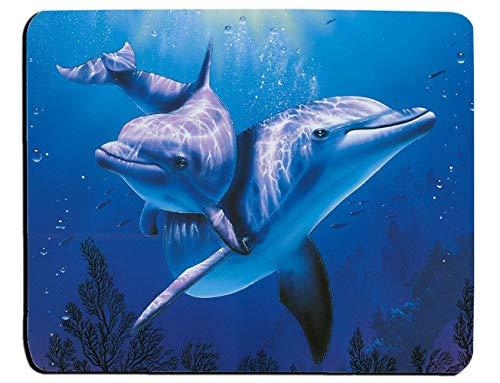 Delphin Unterwasser Ozean Meer blau Aquarium Hoffnung Mauspad Mauspad Matte Mauspad Mauspad Mausmatte