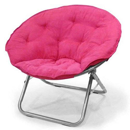 Mainstays Faux-Fur Saucer Chair (1, Pink)
