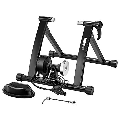 VIVOHOME Heavy Duty Steel Indoor Bike Trainer Stand Bicycle Riding Exercise Machine with Magnetic Flywheel and 6 Variable Speed Level