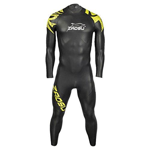 ZAOSU Herren Neoprenanzug Z-Training | Openwater Wetsuit für Einsteiger und Profis im Freiwasser-Schwimmen und Triathlon, Farbe:grün, Größe:ML