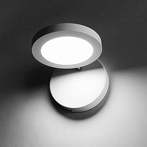SWNN E14 Lámpara De Pared con Espejo Giratorio Tamaño del LED 14 Cm * 18 Cm Área De Irradiación 5-8 Metros Cuadrados Iluminación Pasillo Pasillo Blanco
