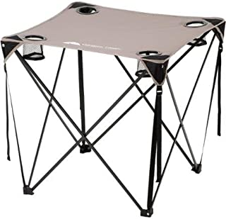 Ozark Trail, Quad Table, Grey Includes Carry Bag with Strap Durable 600D Polyester Material by Ozark Trail