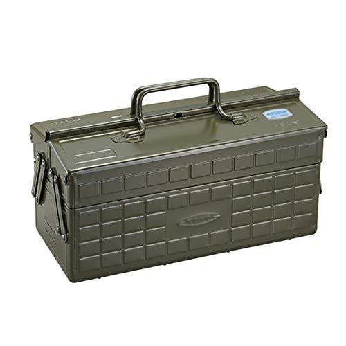 GGYMEI Maleta Vintage, Multifunción portátil de Gran Capacidad Adecuado for almacenar Joyas y Herramientas de reparación Planchar, 3 Colores (Color : Green, Size : 35x16.5x18cm)