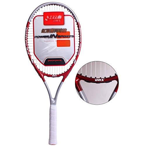 Racchette Da Tennis Tennis Racchette Racchetta Tennis for Principianti Alluminio Adulti Bambini Carbonio Integrati Set Professionale (Color : Red, Size : 69cm/27 Inches)