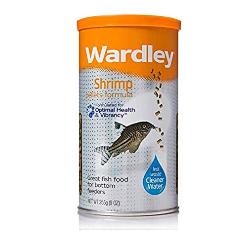 Wardley Shrimp Pellet Fish Food for Bottom and Algae Eaters - 9oz