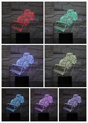 Nachtlampje Heftruck-afstandsbediening Klein Nachtlampje 7 Kleuren Touch Optische Foto Tafel Decoratie Lamp, Geschikt Voor Slaapkamer Bar Sfeerlamp