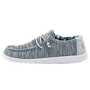 Hey Dude Men's Wally Sox Ice Grey, Size 9