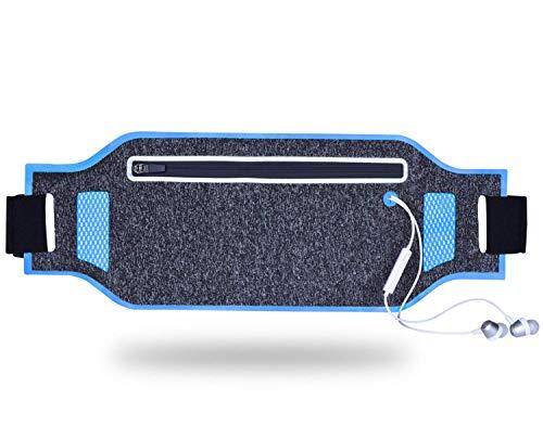 Ccgdgft Oefening Running Belt-Ultra Slim Runners Riem, Verstelbare Sweatproof Running Pouch Riem geschikt voor iPhone 6 7 8 X Plus voor Vrouwen Mannen, Reflecterende taille Pack Riem