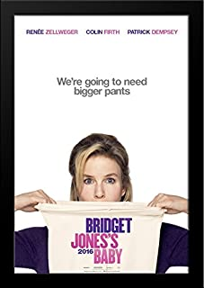 Bridget Jones's Baby 28x36 Large Black Wood Framed Movie Poster Art Print