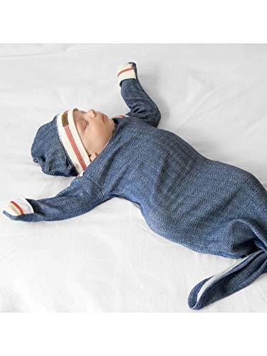 Juddlies Designs Schlupf-Schlafsack Schlafhemd Bio-Baumwolle (Lake Blue)