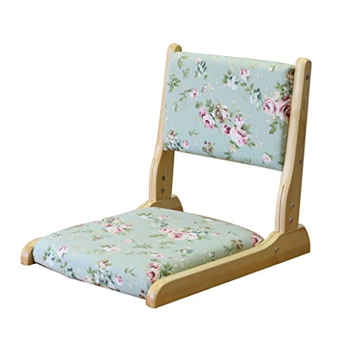 Chaise pliante Chaise de plancher Coussin Dossier Balcon Salon (non amovible) (Couleur : A)