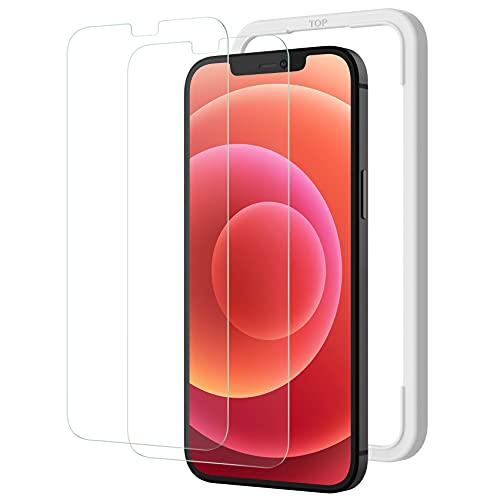 NIMASO ガラスフィルム iPhone 12 mini   iPhone13 mini 用 強化 ガラス 保護 フィルム iPhone13mini 対応 2枚セット ガイド枠付き NSP20I102