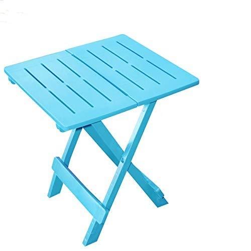 Lifetime Bleu/Table Basse APPOINT Pliante en Plastique 50 X 45 X 43 CM pour Camping OU Jardin Exterieur Pliable