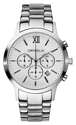 Orphelia OR55790018 - Orologio da polso da uomo, cinturino in acciaio inox colore argento