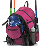 Athletico Advantage Baseball Bag - Baseball Backpack with External Helmet Holder for Baseball, T-Ball & Softball Equipment & Gear for Youth and Adults | Holds Bat, Helmet, Glove, Shoes (Pink)