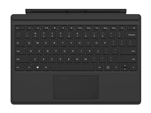 Microsoft Surface Pro Type Cover (Kompatibel mit Surface Pro 6/Pro/Pro 4/Pro 3, LED-Hintergrundbeleuchtung,Qwertz Tastatur) schwarz (Generalüberholt)