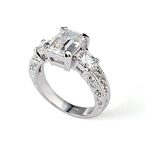 Yoursfs Lusso Diamante Anelli 18ct Oro Bianco Placcato Abito Gioielleria per Signora Cristallo Austriaco Anelli Fidanzamento Regalo di San Valentino