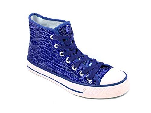 Unbekannt Pailletten Schuhe Glitzer 36-42 Damen & Herren 9 Farben (38, Blau)